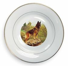 Belgian Shepherd 'Love You Dad' Gold Rim Plate in Gift Box Christmas P, DAD-11PL