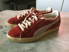 Vtg '70 PUMA RARE Yugoslavia red sneakers running athletic mens shoes sz 6.5
