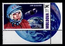 55J.der 1.bemannten Weltraumfahrt. Jurij Gagarin. 1W. Eckrand(2). Moldawien 2016