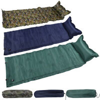 Self Inflating Camping Roll Mat Pad Inflatable Pillow Bed Sleeping Mattress