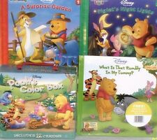 new pooh book lot LEARNING toys kindergarden color your own story book playset