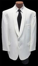 Size 52 X-Long  Classic White Shawl Lapel Dinner Jacket Formal Masonic Gala 52XL