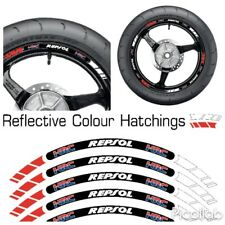 HRC HONDA REPSOL RED  REFLECTIVE MOTORCYCLE WHEEL TAPE STICKERS RIM DECAL VINYL