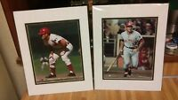 (2) Cincinnati Reds Pete Rose Photos,8x10,new!