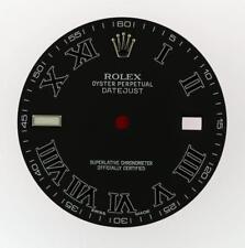 Original Men's Rolex Datejust II 116300 116334 Matte Black Roman Dial SS #E50