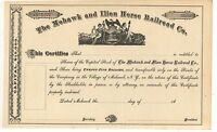 MOHAWK AND ILION HORSE RAILROAD CO NY New York Trolley Stock Certificate
