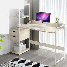 Computer Desk PC Workstation Laptop Table w/4-tier Open Bookshelf Home Office UK