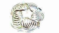 Lisner Abstract Brooch Silver tone Vintage Round Pin