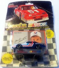 MARK MARTIN #6 Stock Car NASCAR w/ Collectors Card & Display Stand Die Cast Toy