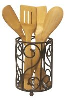 Home Basics NEW Bronze Scroll Collection Cutlery Holder - CH10651