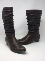 Pikolinos Brown Women's Slouch Calf Boots Leather Size UK 5/EU 38