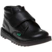 Kickers Kick Kilo Strap Infant Junior Boys Girls  Back To School Black Shoes