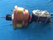 """8"""" DUAL DIAPHRAGM BOOSTER AND 4 PORT 1"""" BORE MASTER CYLINDER HOT RAT STREET ROD"""