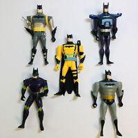 """Vintage Batman Action Figures 5"""" Toys DC Comics Kenner 90s Lot Of Five"""