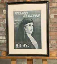 More details for 1880's framed and glazed advertisement cherry bossom perfume 'nun nicer'