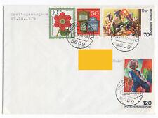BRD Mi. Nr. 822 - 825 auf Brief mit Erstagsstempel.