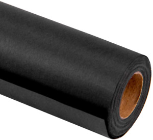 RUSPEPA Black Kraft Wrapping Paper - 81.5 Sq Ft Heavyweight Paper for Wedding,Bi