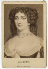 Marion Delorme - French Courtesan - Original 19th Century Portrait Cabinet Card