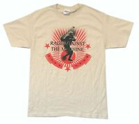 Rage Against The Machine Stone Thrower Tan T Shirt New Official RATM Soft
