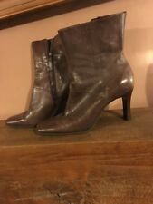 Aldo Brown leather Ankle Heeled Boots Size 7