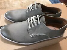 Clarks Farli Walk Grey Leather Oxford Derby Casual Dress Shoes Mens Size 7 aM