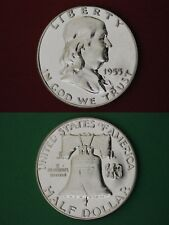 SILVER 1955 P Proof Ben Franklin Half Dollar Mirror Finish Flat Rate Shipping