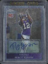 PERCY HARVIN 2009 TOPPS CHROME ROOKIE AUTO RC #155