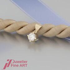 ANHÄNGER -SOLITÄR - 1 BRILLANT (Diamant)ca. 0,25ct-14K/585 Gelbgold - neuwertig