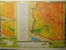 "Rand McNally ARIZONA School/Classroom Map HUGE 70""x52"" pull-down style"