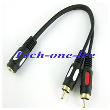 Paym Audio Cable mini 3.5mm female to 2 RCA Male Y Type Stereo Converter Adapter