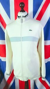 Lacoste Panel Tracksuit Top - 2XL/3XL - Cream - Mod Casuals 60's