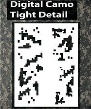 airbrush stencil Camo Digital Camouflage Template Stencils Spray Vision