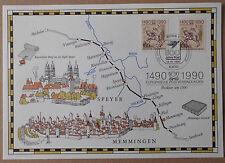 """Ersttagsblatt Gedenkblatt 12.01.1990 """"1490 1990 Europäische  Postverbindungen"""""""