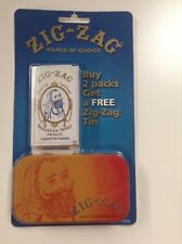 vintage zig zag rolling papers and collectors Tin