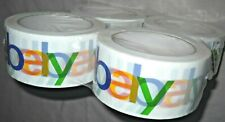 """Lot FOUR(4)ROLLS Official eBay Branded PACKING/SEALING/SHIPPING TAPE 2"""" x 75 yds"""