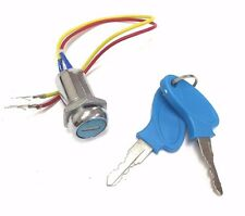 MOBILITY SCOOTER PARTS UNIVERSAL 2 WIRE IGNITION KEY LOCK SWITCH JAZZY HOVEROUND