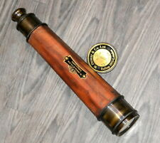 vintage brass telescope 1 meter maritime telescope leather marine spyglass scope