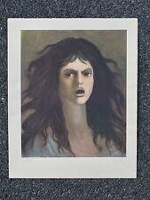 Rare Original Leonor Fini Silkscreen Print From Carmilla. Signed On Arches Paper