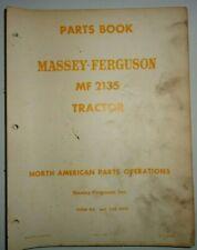 Massey Ferguson MF 2135 Tractor Parts Catalog Manual Book 10/68 Original!