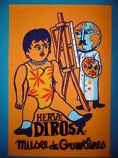Hervé DI ROSA Affiche originale Sérigraphie Figuration enfant poupée peintre