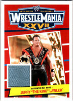 "WWE Jerry ""The King"" Lawler 2012 Topps Heritage WrestleMania 27 Mat Relic Card"