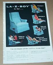 1967 print ad - La-Z-Boy Chair recliner family kids home furniture advertising