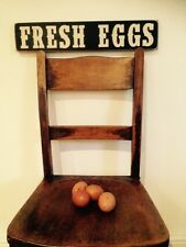 Eggs Sign Fresh Plaque Wood Vintage For Eggs Sale Farm Kitchen Old Look
