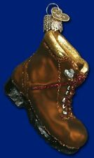 Old World Christmas Hiking Boot (32092)N Glass Ornament w/Owc Box