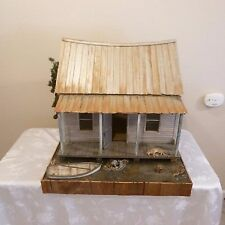 WILDWOOD MINIATURES  EXQUISITE DOLLHOUSE ON the BAYOU   RON & APRIL GILL