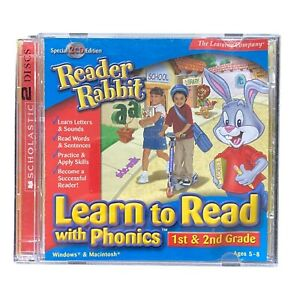 Reader Rabbit Learn to Read with Phonics 1st & 2nd Grade Educational PC CD-ROM