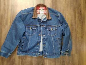 Marlboro Country Store Blue Denim Jacket Men's Size L Large