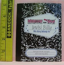 Mattel Genuine Monster High Invisi Billy Diary Goth Doll Accessory