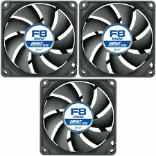 3 X Pack De Ártico enfriamiento Pwm F8 PST Co 80 mm Case Fan Quiet 2000 Rpm, 4 Pin