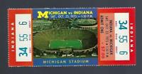 1975 NCAA INDIANA HOOSIERS v MICHIGAN WOLVERINES  FULL UNUSED FOOTBALL TICKET